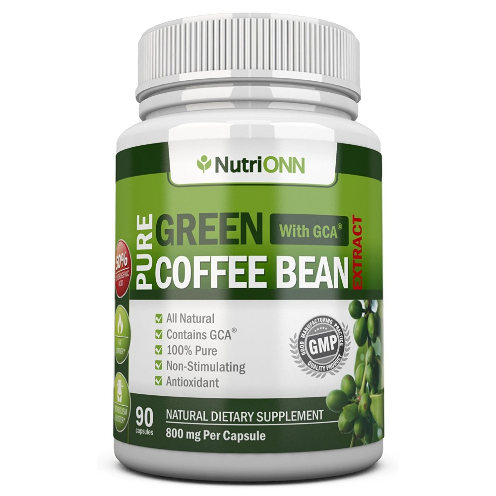 Buy GREEN COFFEE BEAN EXTRACT with GCA, 800mg - 90 ...