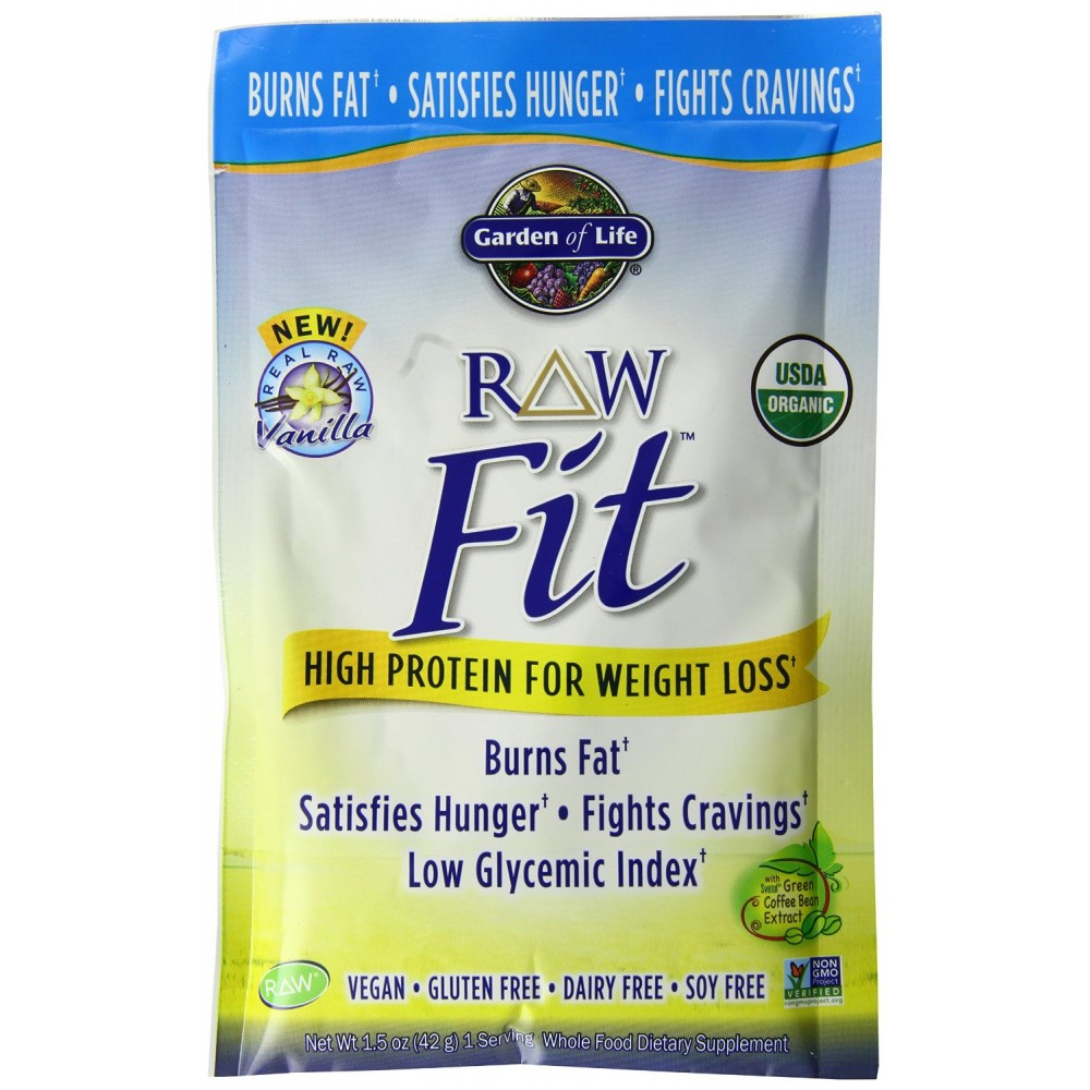 Buy Garden Of Life Raw Fit Protein Tray Powder Vanilla 10 Count Online India Buy Garden Of