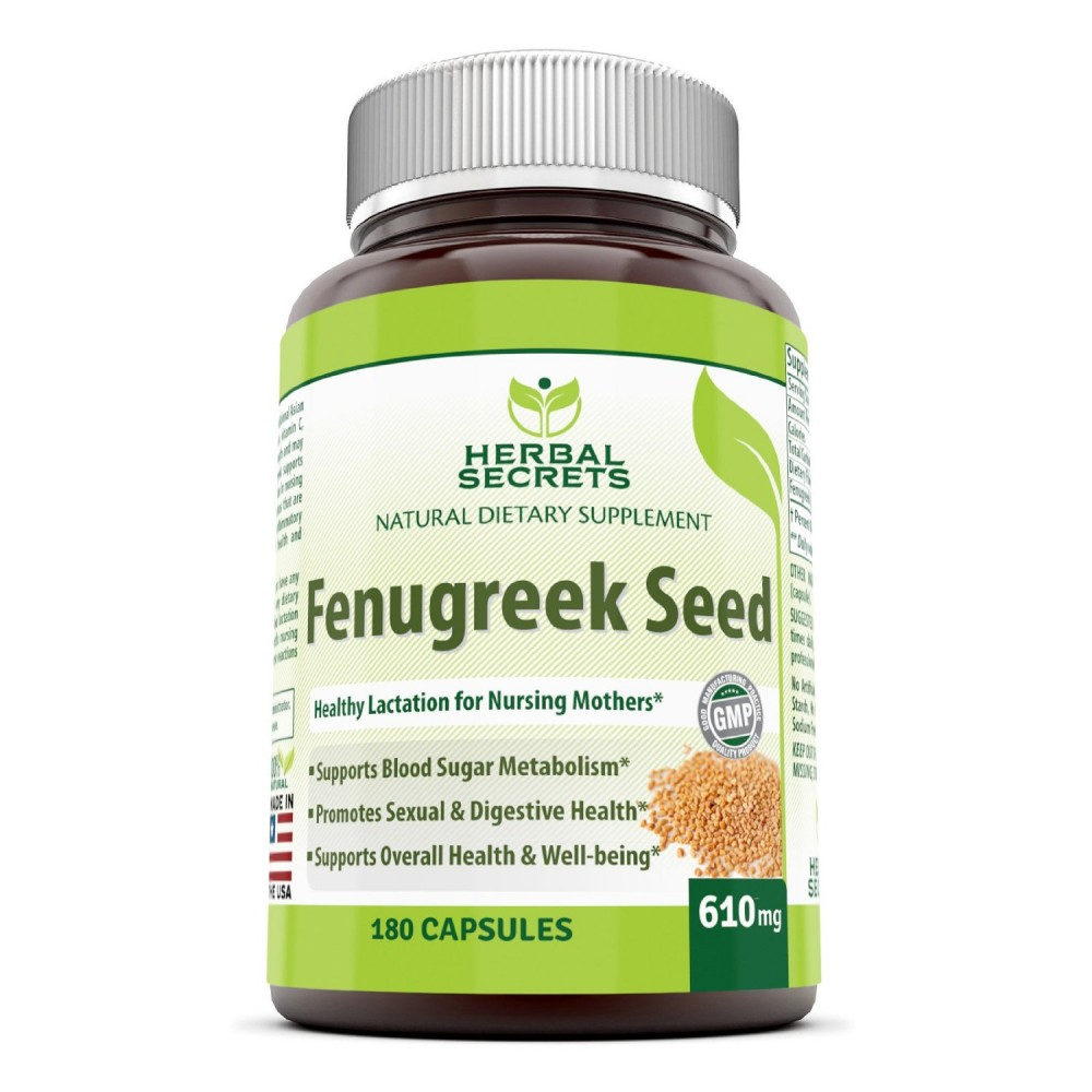 Buy herbal supplements 1000 count capsules - Herbal Secrets Fenugreek Seed Supplement 610mg Capsules Made With Pure Seed Extract 180 Pills Per Bottle All Natural Supplements To Support Healthy