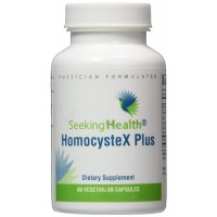 HomocysteX Plus | Provides Vitamins B6, B12, Quatrefolic And Trimethylglycine (TMG) | Supports Methylation and Homocysteine Metabolism |60 Easy-To-Swallow Vegetarian Capsules |Physician Formulated | Seeking Health