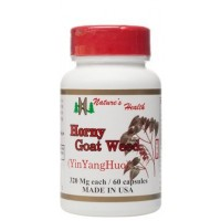 Horny Goat Weed, Promotes Natural Libido Support, Enhances Energy & Focus, Naturally Sparks Sexual Desire, Epimedium, Yin Yang Huo, 60 Capsules, 320 Mg, Nature's Health