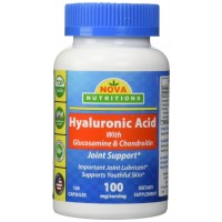 Hyaluronic Acid 100 mg per serving 120 Capsules by Nova Nutritions