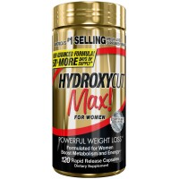 Hydroxycut Max-Pro Clinical Weight Loss For Women, 120 Capsules, Fast-Acting Energizing Effects
