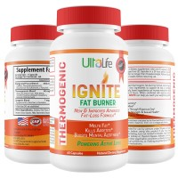 Ignite's 60 Day Fat Burning Weight Loss Diet Pills for Men & Women - Fast Working Thermogenic Fat Burners + Energy & Focus Blend,60 Capsules