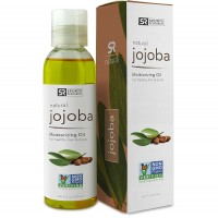 Jojoba Oil 4oz. Non-GMO 100% Organic Oil for Hair, Skin, Scalp and Massage Carrier Oils - UV Resistant BPA Free Bottle