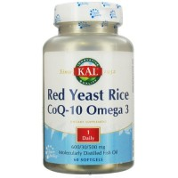 KAL - Red Yeast Rice Coq10 & Omega 3, 60 softgels