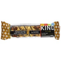 KIND Bars, Peanut Butter Dark Chocolate + Protein, Gluten Free, 1.4 Ounce Bars, 12 Count