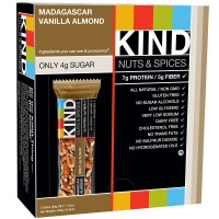 KIND Nuts and Spices, Madagascar Vanilla Almond, 12 Count