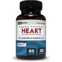KRILL OIL + COQ10: Heart & Circulation Formula by DailyNutra. Supports Lower Cholesterol, Blood Pressure and Triglycerides by DailyNutra