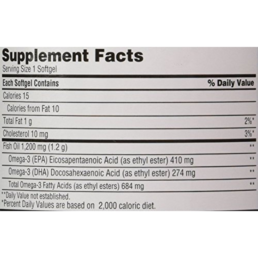 Buy Kirkland Signature Fish Oil 1200 Mg Enteric Coated Provides 684 Mg of Omega-3 Fatty Acids ...