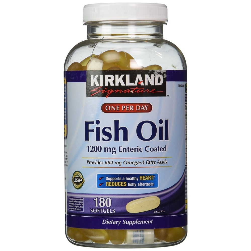 Buy kirkland signature fish oil 1200 mg enteric coated for Enteric coated fish oil