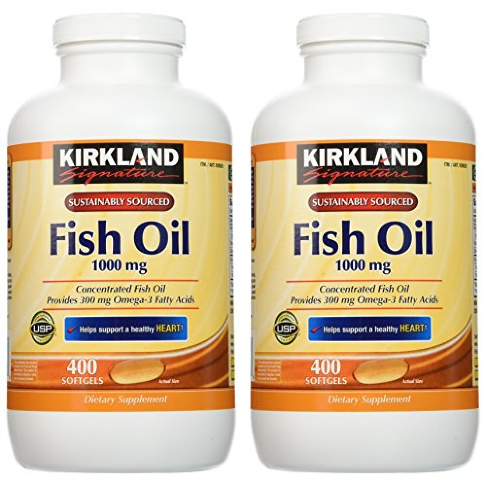 Buy kirkland signature natural fish oil concentrate with for Omega 3 fatty acid fish