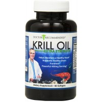 Krill Oil Extra Strength - Doctor Recommended Formula with Astaxanthin - 60 Gel Capsules - Natural Powerful Omega 9, Omega 6, and Omega 3 Fatty Acids - CREATED AND FORMULATED by REAL DOCTORS