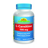 L-Carnitine 500 mg 90 Tablets by Nova Nutritions