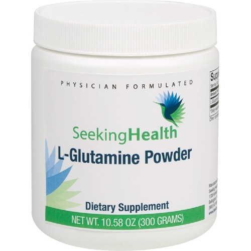 L-Glutamine Powder | 300 Grams | 5000 mg L-Glutamine USP | Free of Common Allergens | Seeking Health