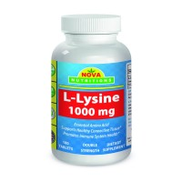 L-Lysine 1000 mg 180 Tablets by Nova Nutritions