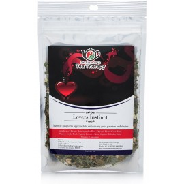 Lovers Instinct Herbal Tea - Libido Enhancing Organic Loose Leaf Herbal Tea - by Dr. Rosemary's Tea Therapy. Long Term Approach to Enhance Desire & Passion for Men & Women - Support Your Love Life