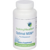 MSM Plus Molybdenum | 750 mg Methylsulfonylmethane (MSM) with 25 mcg Molybdenum | 100 Easy-To-Swallow Vegetarian Capsules | Free of Common Allergens