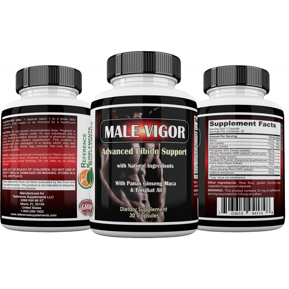 Male Vigor Natural Male Enhancement Supplements - Best Male Enchantment  Pills - Best Testosterone Booster With Tongkat Ali, Horny Goat Weed, Maca  Root and ...