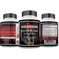 Male Vigor Natural Male Enhancement Supplements - Best Male Enchantment Pills - Best Testosterone Booster With Tongkat Ali, Horny Goat Weed, Maca Root and Tribulus