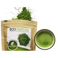 Matcha Green Tea Powder 3.5oz - 100% Certified Organic From Japan - Natural Energy & Focus Booster Packed With Antioxidants. Superior Culinary Grade Matcha Tea For Mixing In Lattes, Smoothies & Cooking Recipes By eco heed