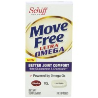 Move Free Ultra Omega Joint Supplement with Omega 3 Krill Oil, Hyaluronic Acid and Astaxanthin, 30 Count