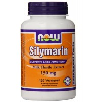 NOW Foods Silymarin/Milk Thistle 150mg, 120 Vcaps for Liver Support