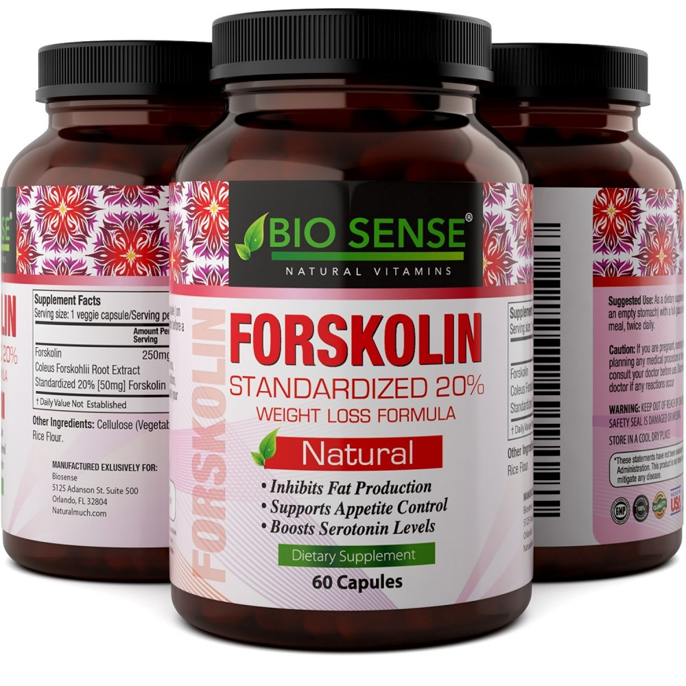 Buy Natural Fat Burner - Pure Forskolin Extract Diet Pills ...