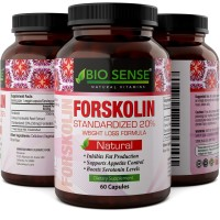 Natural Fat Burner - Pure Forskolin Extract Diet Pills - Best Weight Loss + Appetite Suppressant that Works - Get Thin with 250 mg Capsules of Coleus Forskohlii Root - Lose Weight Fast - Bio Sense
