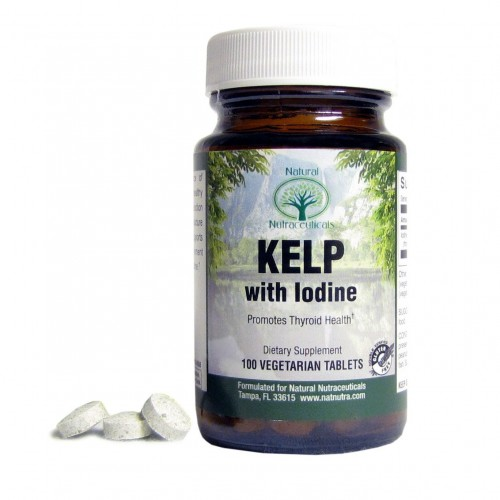 Natural Nutra Kelp Iodine Supplement, North Atlantic Sourced Seaweed Extract, 225 mcg, 100 Tablets