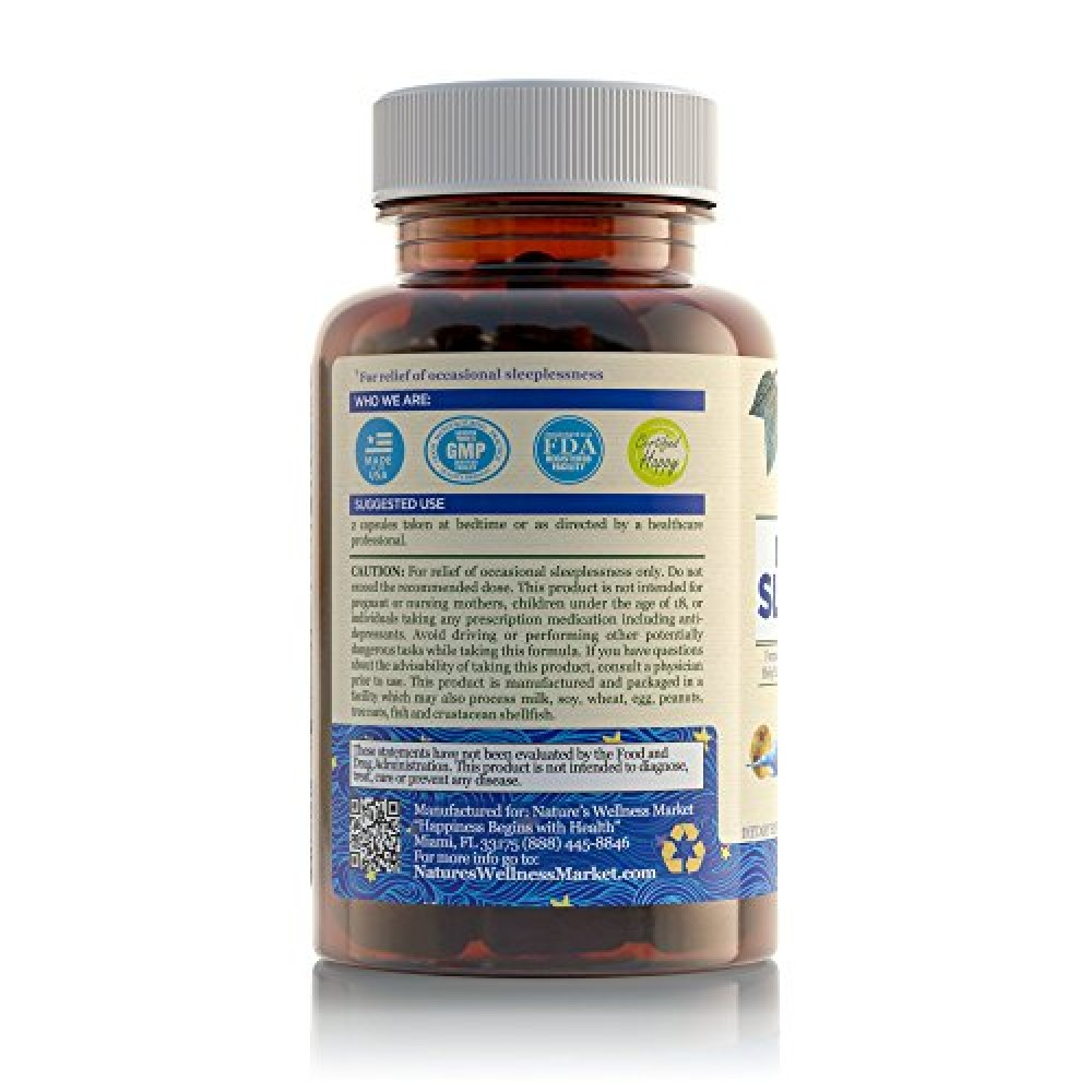Buy natural sleep aid for adults by nature s wellness 60