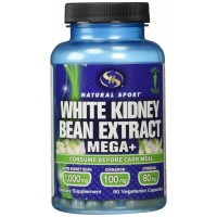 Natural Sport White Kidney Bean Extract Mega+ Capsules, 90 Count