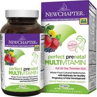 New Chapter Perfect Prenatal Vitamin Fermented with Probiotics + Folate + Iron + Vitamin D3 + B Vitamins + Organic Non-GMO Ingredients - 96 ct