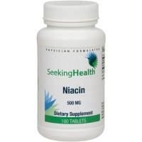 Niacin | Provides 500 mg of Pure Niacin Per Dose | 100 Easy-To-Swallow Tablets | Free of Common Allergens | Physician Formulated | Seeking Health