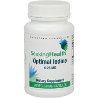 Optimal Iodine | 6.25 mg Of Natural Pure Iodine | 90 Easy-To-Swallow Vegetarian Capsules | Free Of Common Allergens | Seeking Health