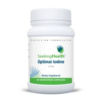 Optimal Iodine | Provides 12.5 mg Of Natural Pure Iodine As Molecular Iodine, Sodium Iodide and Potassium Iodide| 90 Easy-To-Swallow Vegetarian Capsules | Physician Formulated | Free Of Common Allergens | Seeking Health