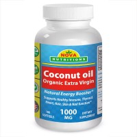 Organic Coconut Oil 1000 mg 180 Softgels by Nova Nutritions