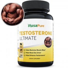 Powerful Testosterone Booster: Testosterone Ultimate with Tribulus Terrestris, Longjack, Horny Goat Weed and More: Boosts Testosterone, Energy, and Stamina