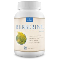 Premium Berberine Supplement -1,200 mg Per Serving - Berberine HCL Extract Helps Support Healthy Blood Sugar Levels, Digestion & Immunity - 60 Vegetarian Capsules