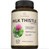 Premium Milk Thistle Complex For Natural Liver Support - Best Cleanse & Detox Formula - Powerful Milk Thistle Extract & Seed Powder For Maximum Health - Standardized Silymarin Content