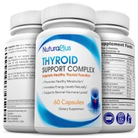 Premium Thyroid Support Supplement - Natural Formula with Iodine for Healthy Hormone Levels - fights Hair Loss - Boosts Energy Levels & Mood - Promotes Healthy Metabolism, Weight Loss & Concentration