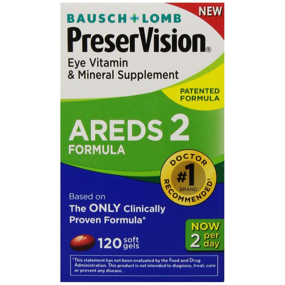 Buy Preservision Areds 2 Vitamin Amp Mineral Supplement 120 Count Soft Gels Online India Buy
