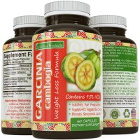 Pure 95% HCA Garcinia Cambogia Extract- Most Potent Natural Appetite Suppressant & Weight Loss Supplement - Infused with Potassium & Calcium - Perfect for Women and Men - GMP Certified & Made in the USA - by California Products