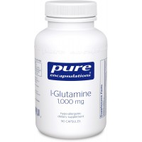 Pure Encapsulations - l-Glutamine 1000 mg. - Hypoallergenic Supplement Supports Muscle Mass and Gastrointestinal Tract* - 90 Capsules