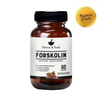 Pure Forskolin Extract (60 Capsules) by Mortar & Pestle - Premium Research Verified Weight Loss Supplement - Boosts Metabolism, Increases cAMP Levels
