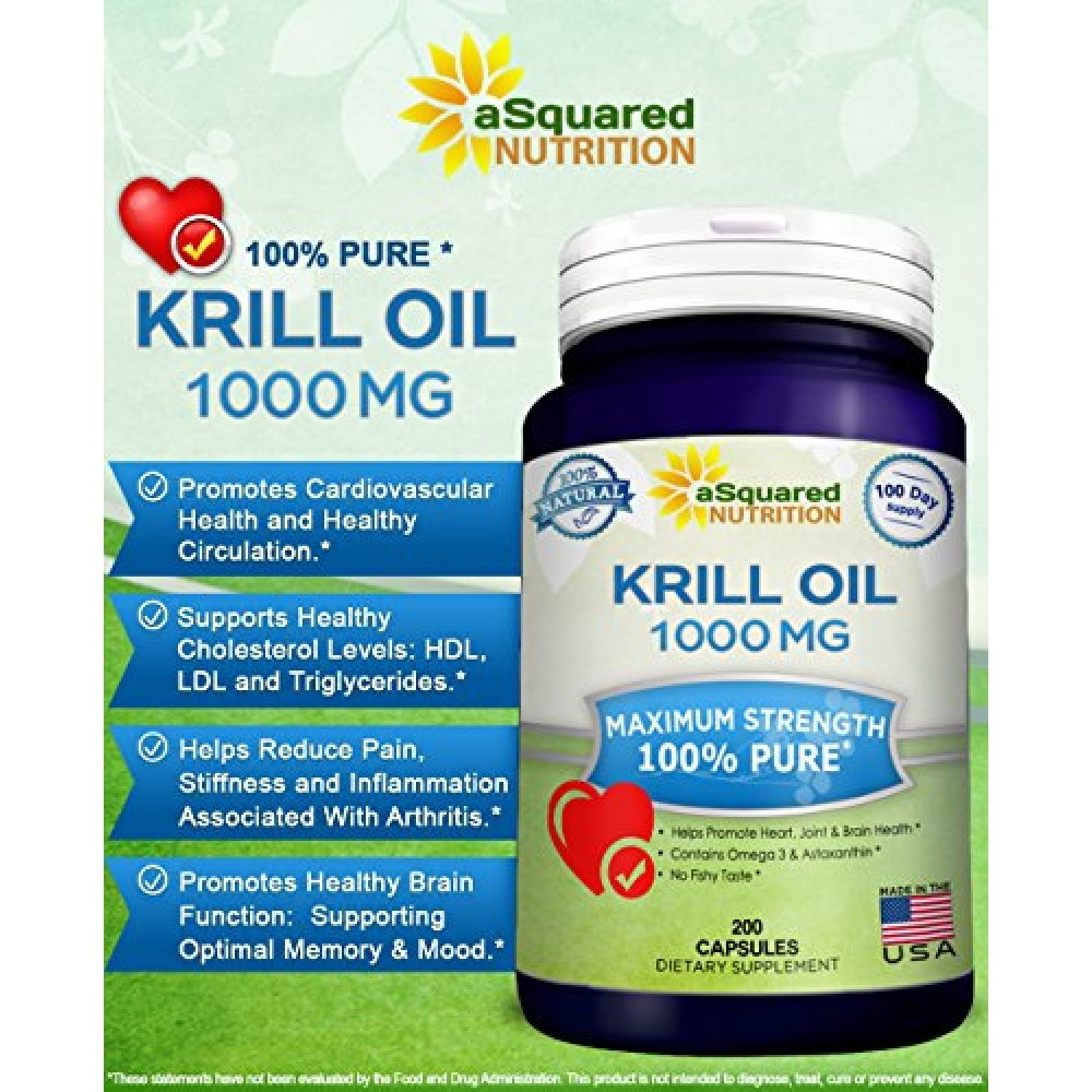 Buy pure krill oil 1000mg w astaxanthin omega 3 xl 200 for Fish rich in omega 3