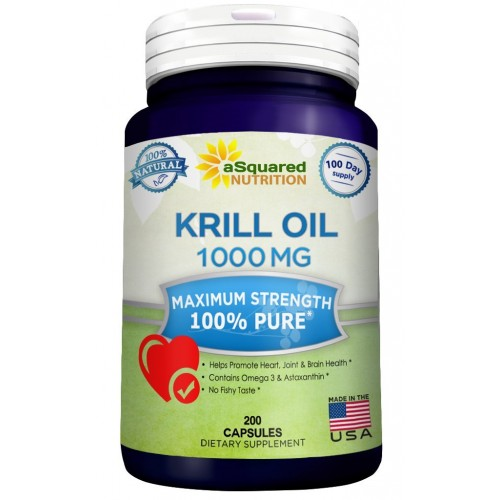 Buy pure krill oil 1000mg w astaxanthin omega 3 xl 200 for Fish oil with astaxanthin
