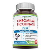 Pure Naturals Chromium Picolinate- 200 mcg, 240 Tablets- Essential Trace Mineral- Supports Cardiovascular Health*- Supports Metabolism & Energy Production*- Promotes Healthy Weight Management*