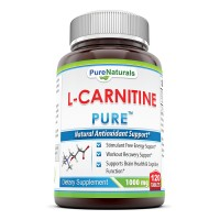 Pure Naturals L-Carnitine Double Potency Tablets, 1000 mg, 120 Count