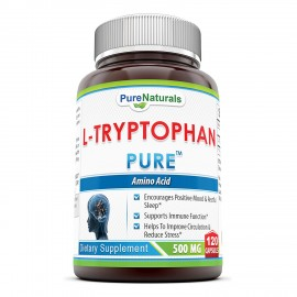 Pure Naturals L-Tryptophan Dietary Supplement - 500 mg, 120 Capsules- Natural Sleep Aid - Promotes Relaxation, Circulation & Immune Support